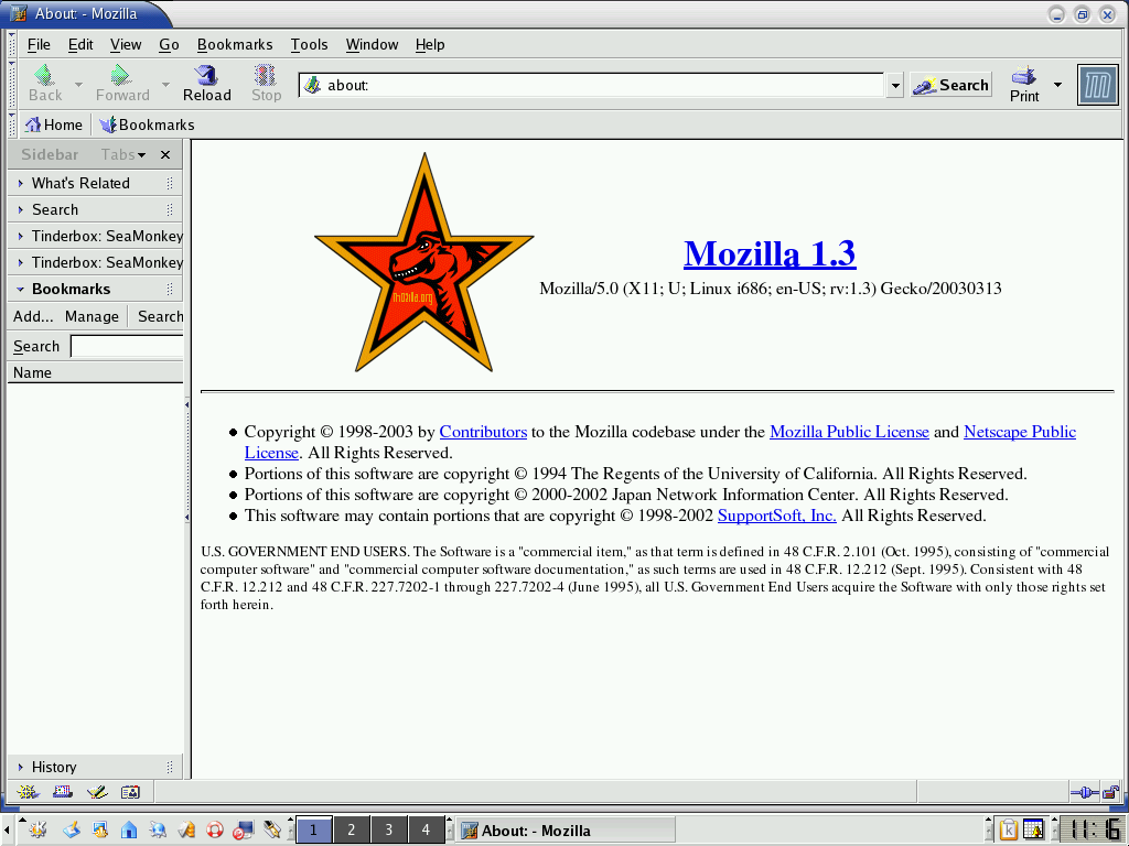 Mozilla web browser